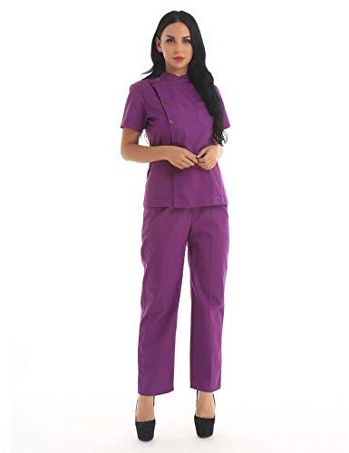 TiaoBug Uniformes Hospital Médicos Enfermeras Mujeres