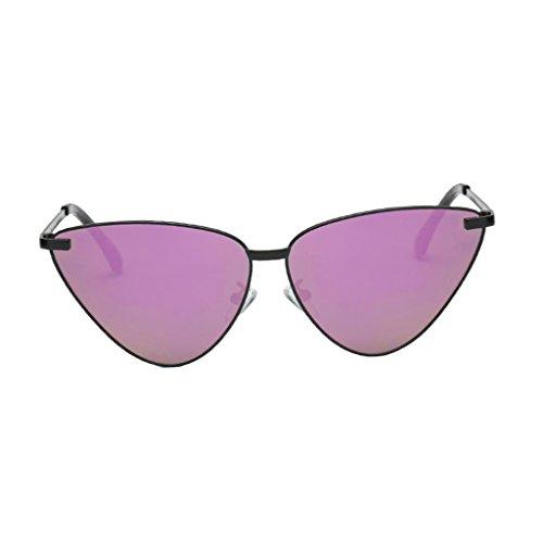 Sharplace Katzenauge Rahmen Sonnenbrille UV-Schutz Damen Brille Metall Gestell Outdoor-Brille - Schwarzer Rahmen Lila Linse