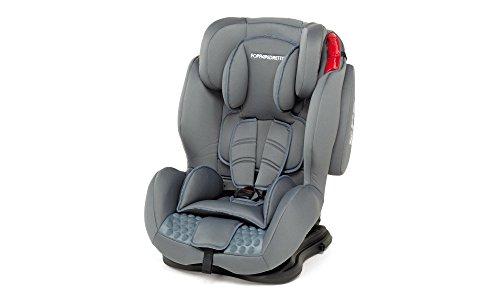 Foppapedretti dinamyk 9-36 seggiolino auto,grigio  titanio, gruppo 1/2/3 (9-36 kg)  per bambini da 9 mesi a 12 anni circa