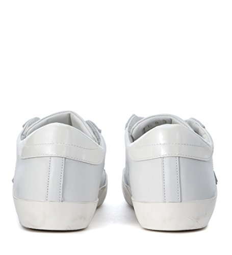 Philippe Model Sneakers Classic Leder und Lack Weiss Weiß
