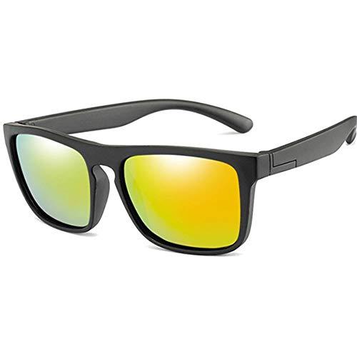 Wang-RX Kids Silica Soft Sonnenbrille Polarizing Square Jungen Mädchen Brillen Infant Uv400 Breakproof Sonnenbrille Für 2-14 Jahre Kinder