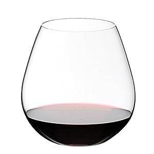 RIEDEL 0414/07 O Wine Tumbler Pinot/Nebbiolo, 2-teiliges Rotweinglas Set, Kristallglas