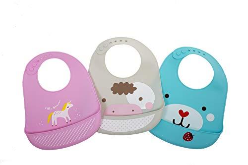 Baberos de silicona para bebés