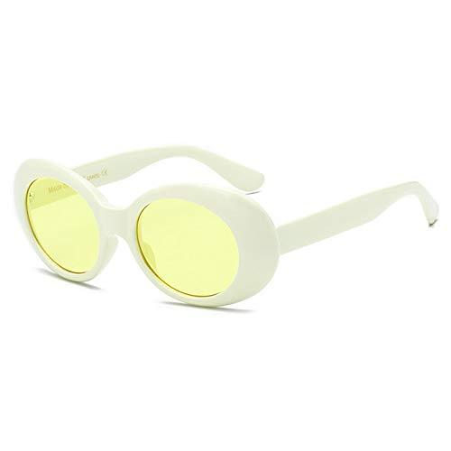 LUOSHUI Europäische und amerikanische Mode Damen Sonnenbrille Retro Herren Sonnenbrille Hip-Hop-Stil Beige Box gelbe Flocken