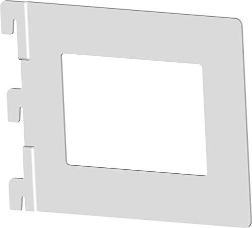 Element System Bücherbügel Karthago, 4 Stück für 1 und 2-reihig Wandschienen, weiß, 10801-00010