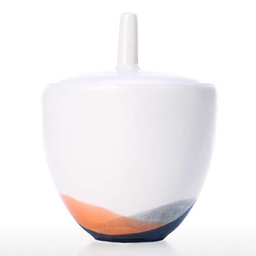 Tooart Sugar Bowl, Aufbewahrungsglas aus Keramik mit Deckel Sugar Salt Pepper Aufbewahrungsbehälter für Haus und Küche
