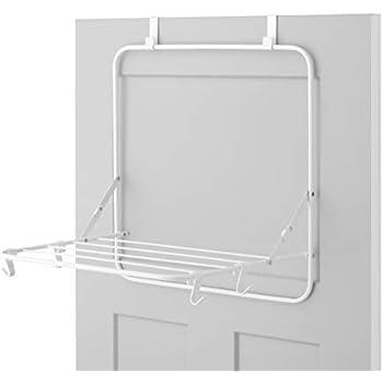 Slimline Steel Over The Door Drying Rack White Amazon Co
