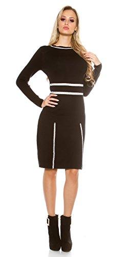 In-Stylefashion - Robe - Femme noir noir taille unique Noir