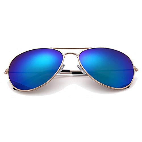 JIGHB Sonnenbrille weiblich Luxury Aviator Sunglasses Retro Metal Driving Aerial Mirror Sunglasses Female Sunglasses