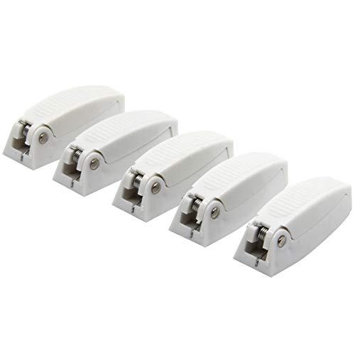 RKURCK 5 Stück Gepäcktürschnäpper Clip Fach Verriegelung Halter für Wohnmobil, Wohnmobil, Gepäck Türen (weiß) -