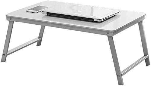 CWJ Kreative Tische Steht Klapptisch, Bett Tisch Student Kind Studie Tisch Büro Laptop Tisch Kleine Couchtisch Bambustisch Schlafzimmer Lagerung Schreibtisch Regal,Rosa,60 * 39 * 27CM
