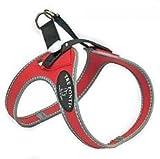 Tre Ponti - Hundegeschirr Ratschenverschluss, Rot, reflektierend, Größe 4