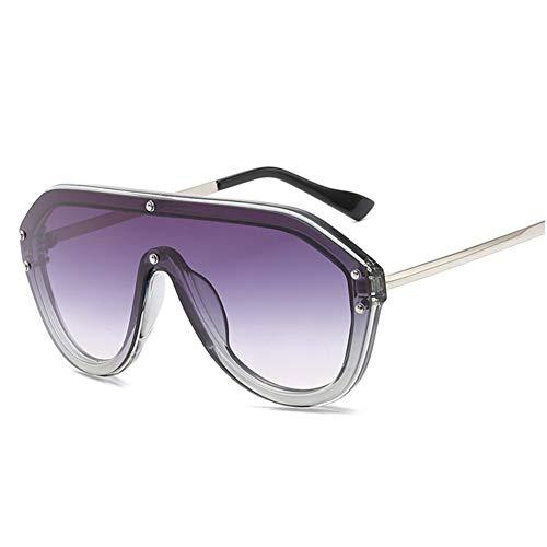 Wenkang Objektiv Sonnenbrille Frauen Männer Designer Flat Top Metallrahmen Sonnenbrille Vintage Big Frame Übergroße Sonnenbrille Brillen,3