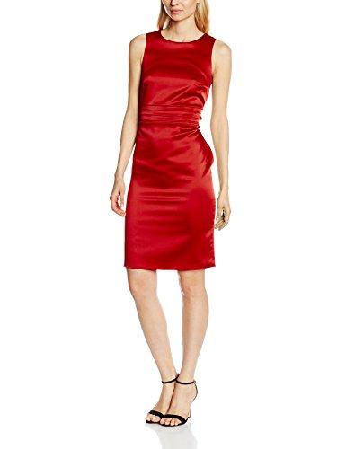 Hot squash lucy pleat waisted-vestito donna, rosso, 16