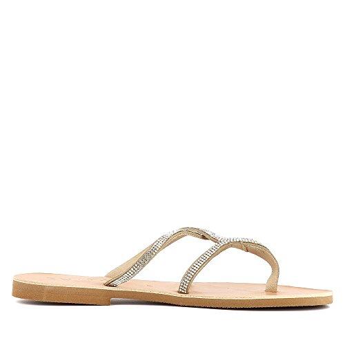 GRETA Damen Sandale Rauleder fein Nude