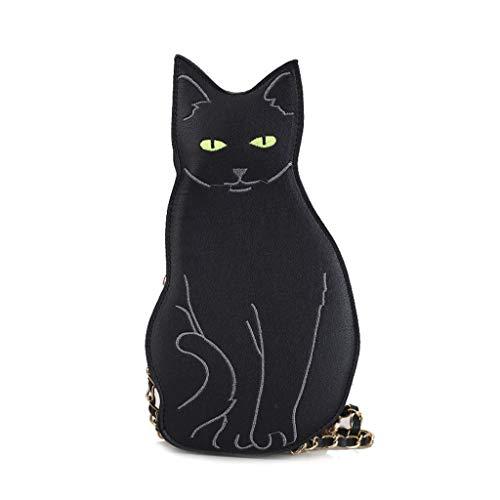 Catyrre Frauen Süße Katze Lederhandtasche Schulter Dame Umhängetasche PU Handtasche Sen Weiblichen Umhängetasche Handtasche - Katze Kostüm Lippenstift