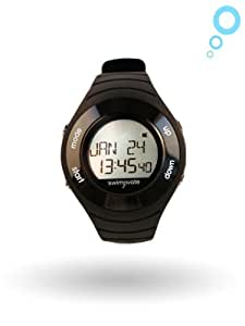 2016 Swimovate PoolMate HR Rechargable Swim Watch in BLACK