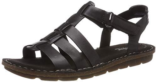 Clarks Damen Blake Jewel Riemchensandalen, Schwarz (Black Leather), 41.5 EU (Für Clark Schuhe Black Frauen)