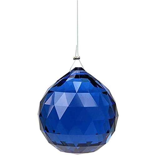 Boule Feng shui Cristal à facettes - coloris saphir foncé - 3 cm