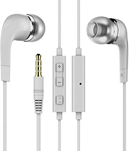 DLORKAN DL_D-YR-2637 for Apple iPhone 5s (Gold, 16GB) in-Ear Headphones/Earphone/Headsets Fab Sound 3.5mm Jack with Microphone and Call Controller (Color May Vary)