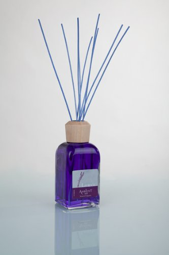 Ambientair Mikado Ambientador para Hogar, Aroma Lavanda, Cristal, Azul, 8 x 8...