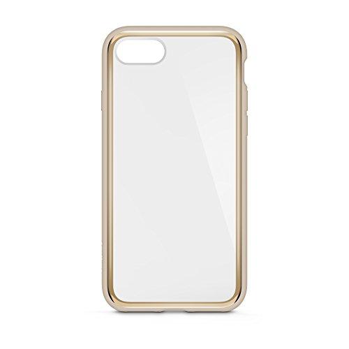 Belkin SheerForce Elite Schutzhülle (Polycarbonat, Sturzsicherheit, Anschlüsse frei zugänglich, geeignet für iPhone 8/7)gold