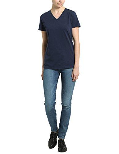 Berydale Damen-T-Shirt mit V-Ausschnitt Blau (Navy)