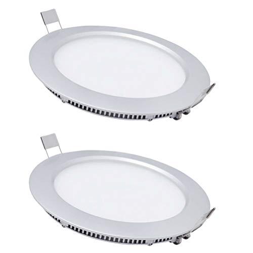 (LED Panel Einbaustrahler Einbauleuchte Deckeneinbauleuchte Round Panel - 220v 700lm 6W 9W Aluminium Einbaustrahler Schwenkbar AC86-265V [Energieklasse A+] VHFIStj)