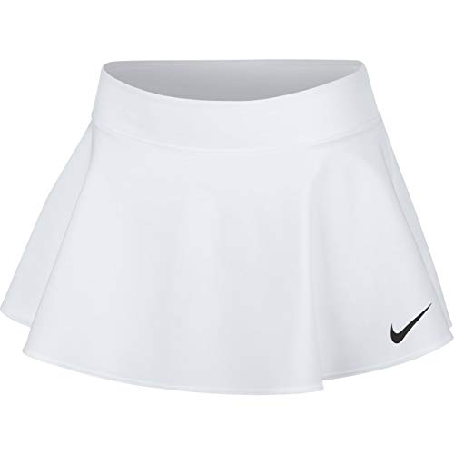 Nike Mädchen Court Pure Tennisrock, White/Black, XL - Nike-sommer-rock