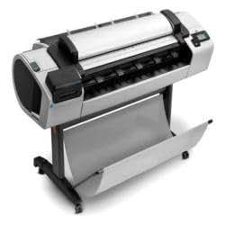 HP DesignJet T2300 eMFP Imprimante grand format couleur jet d'encre jusqu'à 41 m2/heure (couleur) USB, 1000Base-T