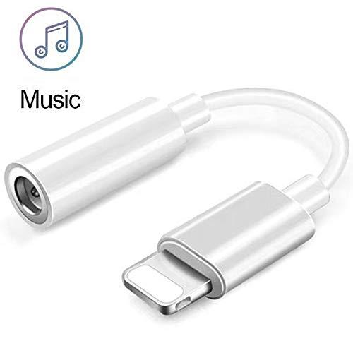 Joyguard Kopfhörer Adapter 3.5 mm, Aux Adapter Klinke Adapter[1-Pack] Kopfhöreranschluss Adapter -Weiß