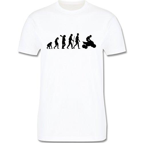 Evolution - Quad Evolution - Herren Premium T-Shirt Weiß