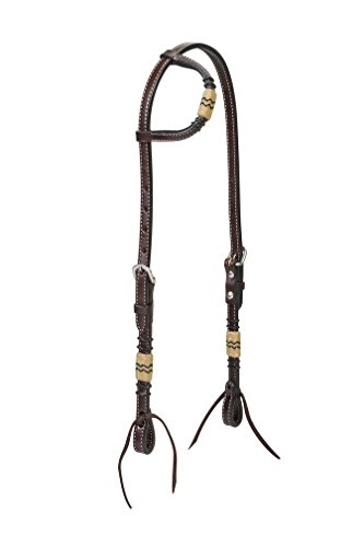 turquoise-cross-45-0111-rawhide-accented-sliding-ear-headstall-horse-size-dark-oiled
