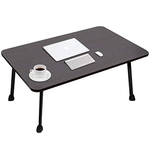 LELETablePliante Klapptisch Computer Schreibtisch Faul Explosion Abschnitt Einfache Studie Tisch Tragbares Bett Klapptisch (Color : Black, Size : 60 * 40cm) -