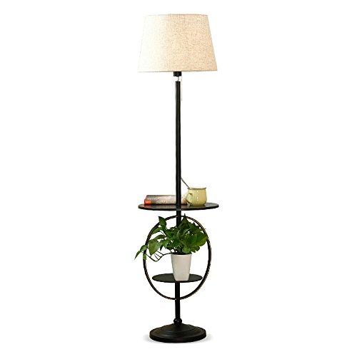LEGELY Stehleuchte Minimalistische Modern Indoor Metall schwarz E27 Wohnzimmer Schlafzimmer Nachttischlampe Sofa Lampe, kreative Lagerung Couchtisch Stehlampe, hohe 165cm -