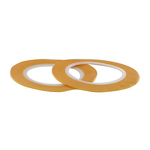 Modelcraft-Nastro adesivo di precisione 1 mm, in plastica, colore: giallo, confezione da 2
