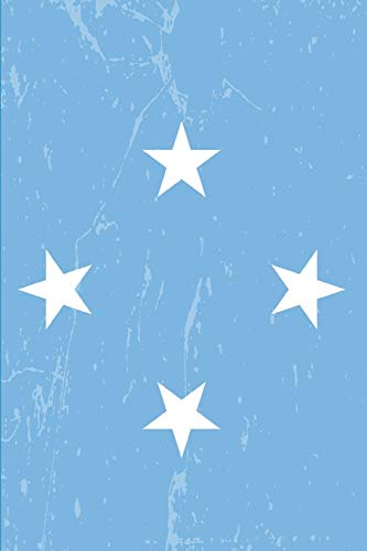 Micronesia Flag Journal: Blank lined Notebook to write in