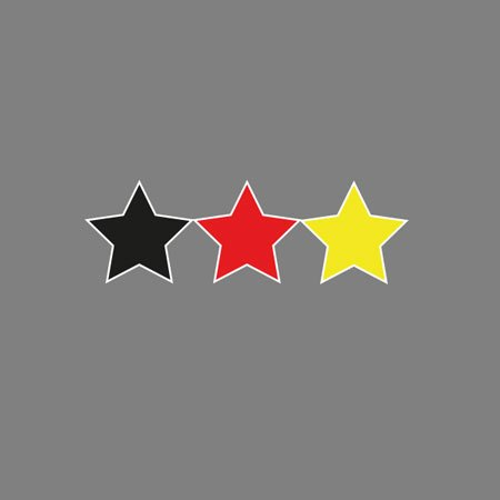 TEXLAB - Deutschland Sterne - Herren T-Shirt Rot