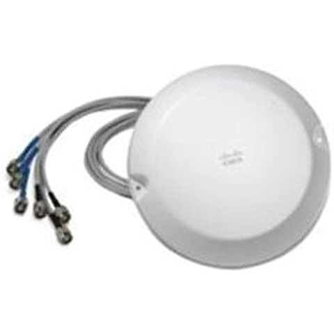 Cisco 2.4 - 5 GHz Omnidirectional Antenna - Antena (IEEE 802.11n, Color blanco)