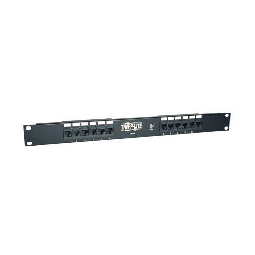 Tripp Lite Rückflussdämpfung 1U Rackmount CAT5e 110Patch Panel 568B, RJ45Ethernet (N052–012) 12 Port