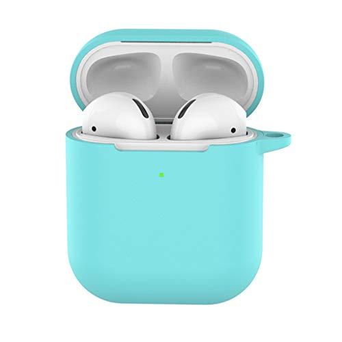 Wanshop Kopfhörer Tasche für In Ear Ohrhörer für Apple AirPods Silikon Hülle Soft Case für Schutzhüllen-Silikonhülle Schutz AirPods Aufladen Case (Blau) - Ohrhörer Farbe Für Apple
