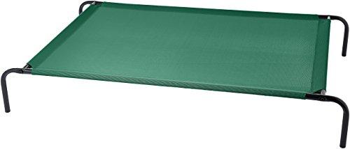 AmazonBasics - Erhöhtes Haustierbett, kühlend XL, Grün