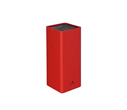 Zassenhaus 0000078053 Messerblock, Kunststoff, rot, 10 x 10,2 x 22,6 cm