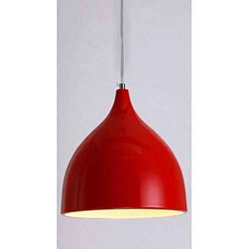 Rindasr Verstellbarer Einzelkopf-Kronleuchter, E27 Designer-Serie, Bar-Restaurantlampe, Aluminium-Schattierung, Passen Sie Ihren dekorativen Stil an (Farbe : F, größe : 35cm) -
