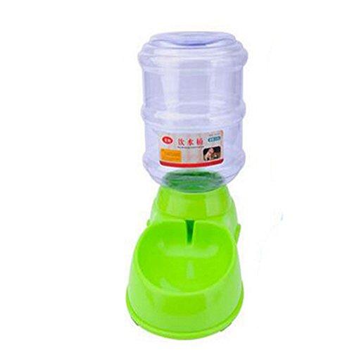 JL Alimentador Automático De Mascotas Fuente De Agua 3.5L De Almacenamiento Plástico ABS A Través De La Comida De Control De Gravedad para Gatos Y Perros,Green,Waterfeeder