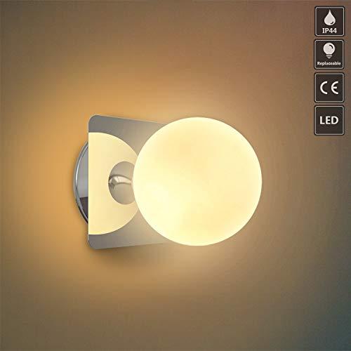 OOWOLF G9 LED wandleuchte badezimmer IP44 spritzwassergeschützt innen wandleuchte bad badezimmer wandlampe lampe bad schlafzimmer Küchenleuchte Küchenlampe Hotel Eingangswand Flur Wandleuchten