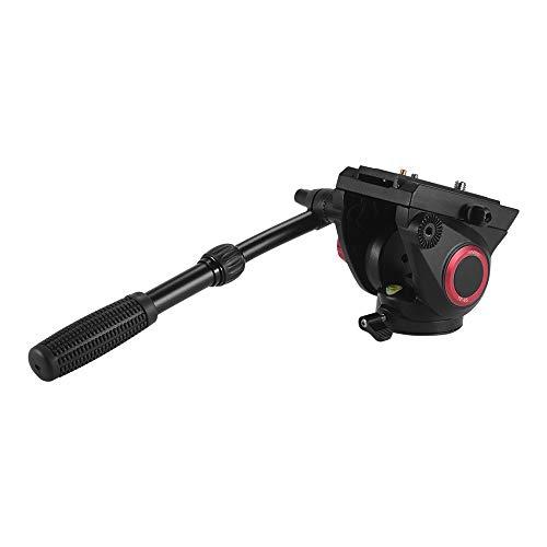 Andoer TP-65 Aluminium-Legierung Flüssigkeit Drag Leiter Hydraulische Leiter Dreidimensionale Stativkopf 360 ° Panoramaaufnahme für Fotografie und Videoaufzeichnung Max Tragfähigkeit 15kg