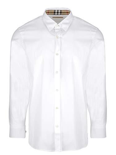 Burberry camicia uomo 8003071 cotone bianco