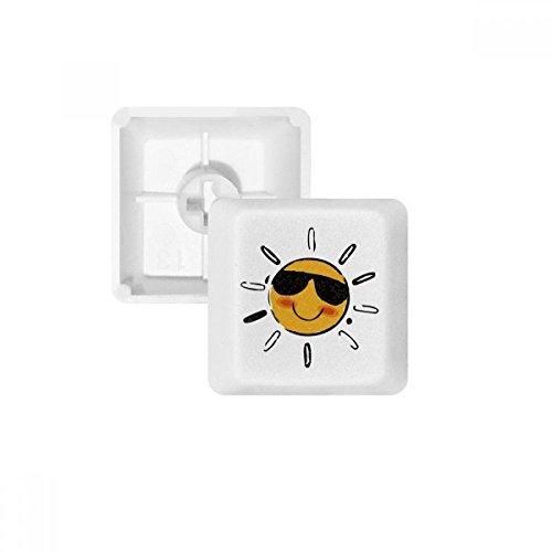 DIYthinker Sonnenbrille Wetter Sun Illustration Muster PBT Keycaps für mechanische Tastatur Weiß OEM Keine Markierung drucken