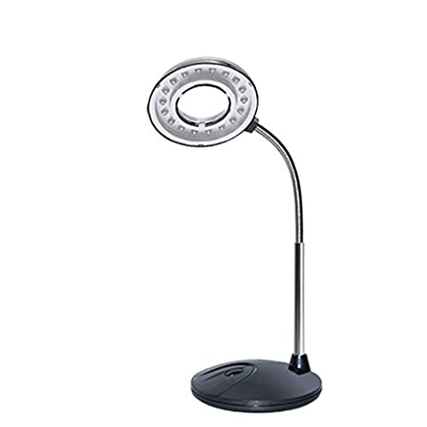 Yeelan USB Desk Lamp with LED Magnifier (black)